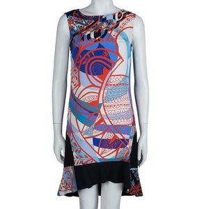 Emilio Pucci Multicolor Sleeveless Shift Dress